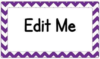 Editable Classroom Theme / Decor / Organization Bundle - Dark Purple