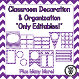 Editable Classroom Theme / Decor / Organization Bundle - D