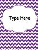 Editable Classroom Theme / Decor / Organization Bundle - D