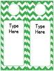 Editable Classroom Theme / Decor / Organization Bundle - Green
