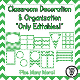 Editable Classroom Theme / Decor / Organization Bundle - Green