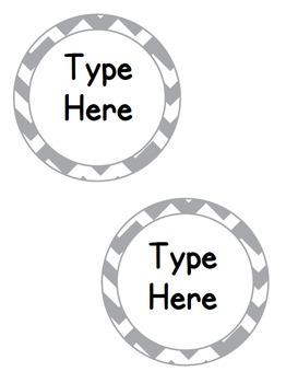 Editable Classroom Theme / Decor / Organization Bundle - Grey