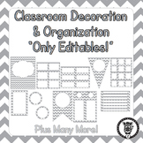 Editable Classroom Theme / Decor / Organization Bundle - Grey