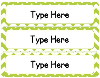 Editable Classroom Theme / Decor / Organization Bundle - Lime Green