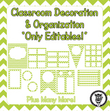 Editable Classroom Theme / Decor / Organization Bundle - L