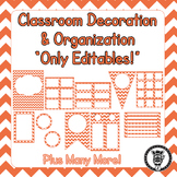 Editable Classroom Theme / Decor / Organization Bundle - Coral