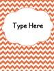 Editable Classroom Theme / Decor / Organization Bundle - Coral