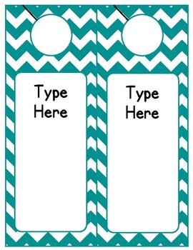 Editable Classroom Theme / Decor / Organization Bundle - Teal
