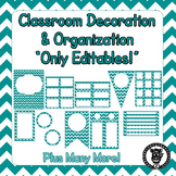 Editable Classroom Theme / Decor / Organization Bundle - Teal
