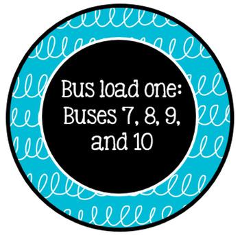 Editable Classroom Transportation signs *FREEBIE*
