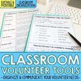 Editable Classroom Volunteer Toolkit | Sign Up Sheet, Desc