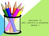 Editable Classroom Welcome Poster Door Sign
