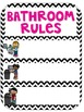 Editable Pink Classroom and Bathroom Rules Posters