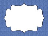 Editable Classroom and Computer Signs (Blue Denim)