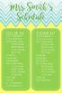Editable Classroom or Grade Level Schedule (Chevron)