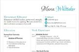 Editable Classy Teacher Resume & Cover Letter