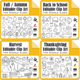 Vector Editable Clip Art Bundle for Fall | Movable Images