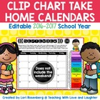 Editable Behavior Calendars for Clip Chart {No Weekends}