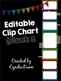 Editable Clip Chart Behavior Management System - Chevron