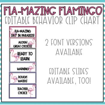 Editable Clip Chart (Flamingo)