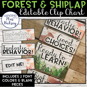 Editable Clip Chart (Forest and Shiplap)