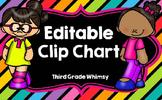 Editable Clip Chart-Rainbow