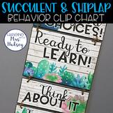 Editable Clip Chart (Succulent and Shiplap)