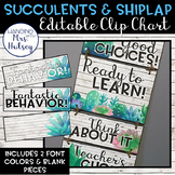 Editable Clip Chart (Succulent and Shiplap)