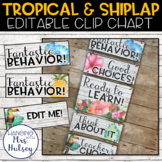 Editable Clip Chart (Tropical and Shiplap)