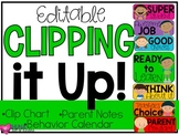 Editable Clip Chart and Behavior Calendars