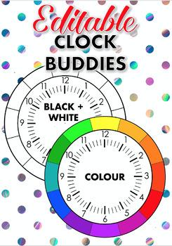 Editable Clock Buddies