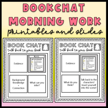 Editable Close Reading Morning Work for Sustained Silent Reading - Re-usable