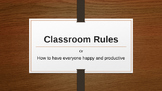 Classroom Rules PowerPoint