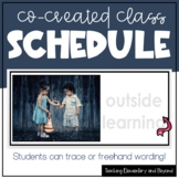 Editable Co-Created Class Schedule