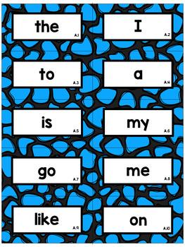 Editable Cobblestone Sight Word Flash Cards: Teachers College Word List