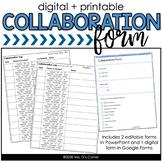Editable Collaboration Form [Digital + Printable]