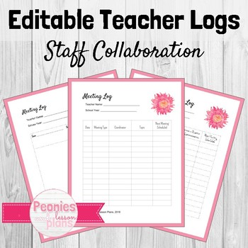 Editable Collaboration and Meeting Log