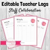 Editable Collaboration and Meeting Log