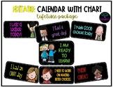 Editable Color Behavior Chart and Calendar 2020/2021 (LIFETIME)