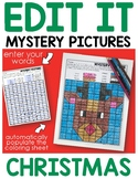 Editable Color By Sight Words Mystery Pages - Christmas