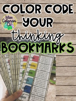 Editable Color Code your Thinking Bookmark