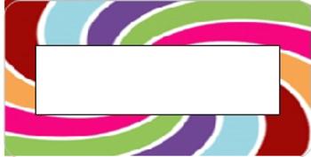 Editable Color Swirl Labels