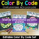 Editable Color by Code Christmas December