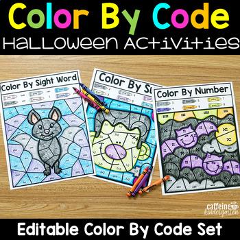 Editable Color By Code Teaching Resources | Teachers Pay Teachers