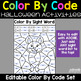 Editable Color by Code Halloween