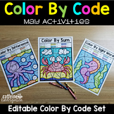 Editable Color by Code May - Ocean and Summer