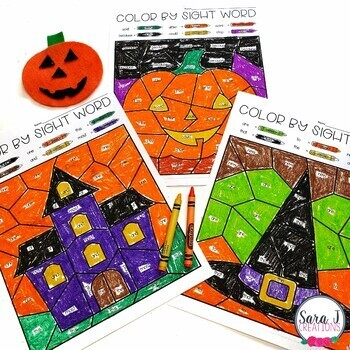 Editable Color by Sight Word - Fall Version