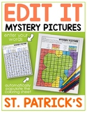 Editable Color by Sight Word Mystery Pictures - St. Patrick's Day