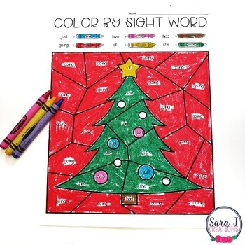 Editable Color by Sight Word - Seasonal BUNDLE