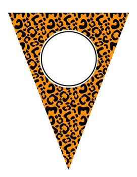 Editable Colorful Animal Print Banners Add Your Own Text!